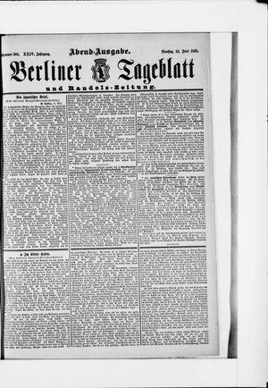 Berliner Tageblatt und Handels-Zeitung vom 18.06.1895