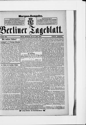 Berliner Tageblatt und Handels-Zeitung vom 19.06.1895