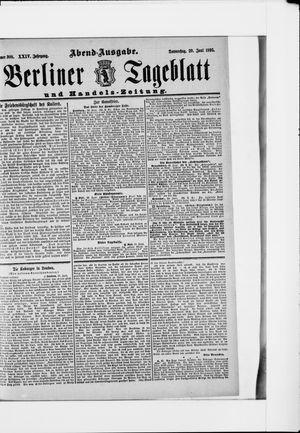 Berliner Tageblatt und Handels-Zeitung vom 20.06.1895