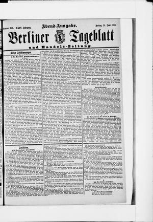 Berliner Tageblatt und Handels-Zeitung vom 21.06.1895