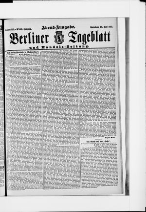 Berliner Tageblatt und Handels-Zeitung vom 22.06.1895