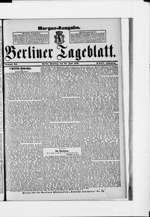 Berliner Tageblatt und Handels-Zeitung vom 23.06.1895