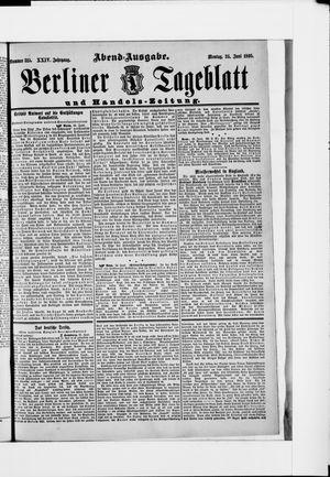 Berliner Tageblatt und Handels-Zeitung vom 24.06.1895