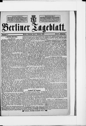 Berliner Tageblatt und Handels-Zeitung vom 05.01.1896