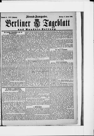 Berliner Tageblatt und Handels-Zeitung vom 06.01.1896