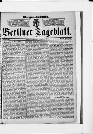 Berliner Tageblatt und Handels-Zeitung vom 07.01.1896