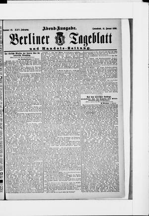 Berliner Tageblatt und Handels-Zeitung vom 11.01.1896