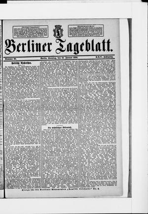 Berliner Tageblatt und Handels-Zeitung vom 12.01.1896
