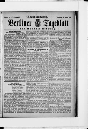 Berliner Tageblatt und Handels-Zeitung vom 16.01.1896