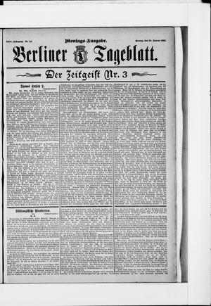Berliner Tageblatt und Handels-Zeitung vom 20.01.1896