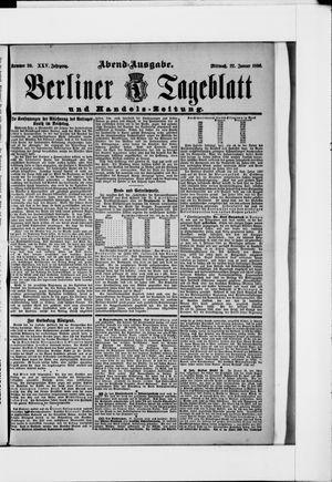 Berliner Tageblatt und Handels-Zeitung on Jan 22, 1896