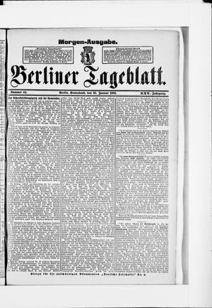 Berliner Tageblatt und Handels-Zeitung vom 25.01.1896