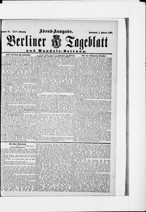 Berliner Tageblatt und Handels-Zeitung vom 01.02.1896