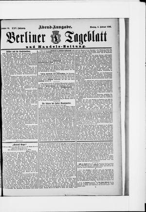 Berliner Tageblatt und Handels-Zeitung vom 03.02.1896