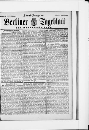 Berliner Tageblatt und Handels-Zeitung vom 04.02.1896