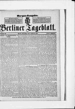 Berliner Tageblatt und Handels-Zeitung vom 06.02.1896