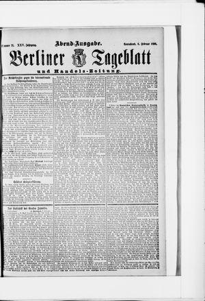 Berliner Tageblatt und Handels-Zeitung vom 08.02.1896