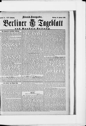 Berliner Tageblatt und Handels-Zeitung vom 10.02.1896