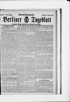 Berliner Tageblatt und Handels-Zeitung vom 12.02.1896