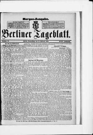 Berliner Tageblatt und Handels-Zeitung vom 13.02.1896
