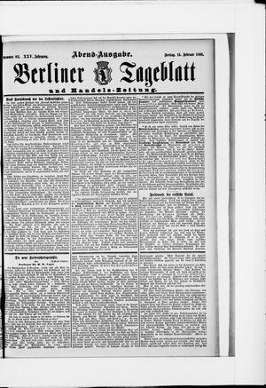 Berliner Tageblatt und Handels-Zeitung vom 14.02.1896