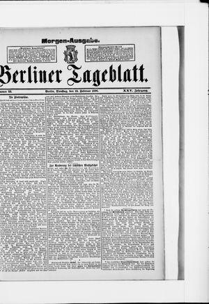 Berliner Tageblatt und Handels-Zeitung vom 18.02.1896