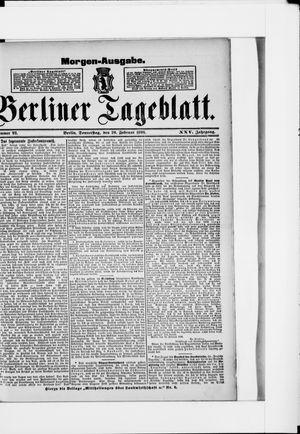 Berliner Tageblatt und Handels-Zeitung on Feb 20, 1896