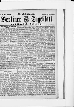 Berliner Tageblatt und Handels-Zeitung vom 22.02.1896