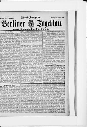 Berliner Tageblatt und Handels-Zeitung vom 25.02.1896