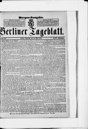 Berliner Tageblatt und Handels-Zeitung on Mar 18, 1896