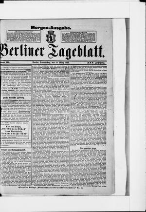 Berliner Tageblatt und Handels-Zeitung vom 19.03.1896