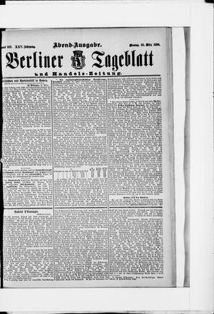 Berliner Tageblatt und Handels-Zeitung vom 23.03.1896
