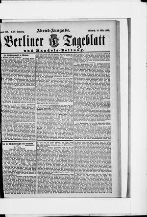 Berliner Tageblatt und Handels-Zeitung vom 25.03.1896