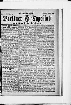 Berliner Tageblatt und Handels-Zeitung vom 26.03.1896