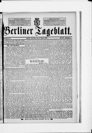 Berliner Tageblatt und Handels-Zeitung on Apr 3, 1896