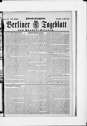 Berliner Tageblatt und Handels-Zeitung vom 04.04.1896