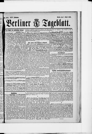 Berliner Tageblatt und Handels-Zeitung on Apr 7, 1896