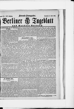 Berliner Tageblatt und Handels-Zeitung vom 11.04.1896