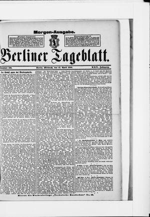 Berliner Tageblatt und Handels-Zeitung vom 15.04.1896
