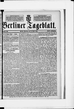 Berliner Tageblatt und Handels-Zeitung vom 19.04.1896