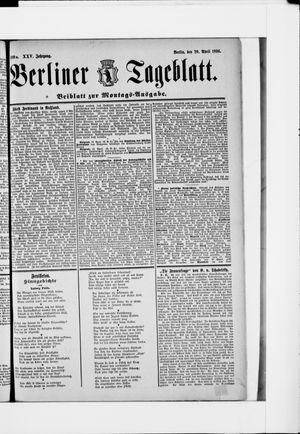Berliner Tageblatt und Handels-Zeitung vom 20.04.1896