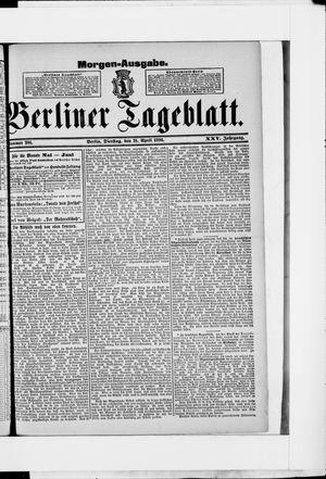 Berliner Tageblatt und Handels-Zeitung vom 21.04.1896