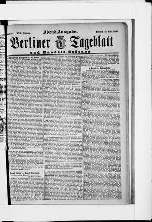 Berliner Tageblatt und Handels-Zeitung vom 22.04.1896