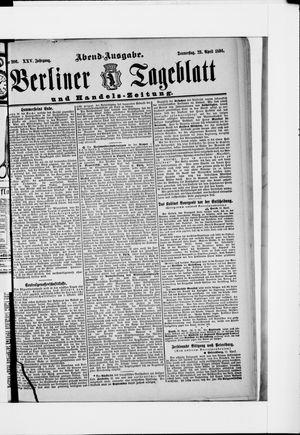 Berliner Tageblatt und Handels-Zeitung vom 23.04.1896