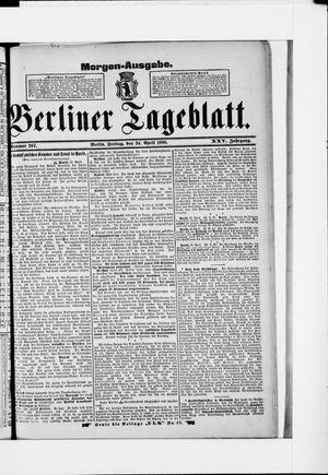 Berliner Tageblatt und Handels-Zeitung vom 24.04.1896