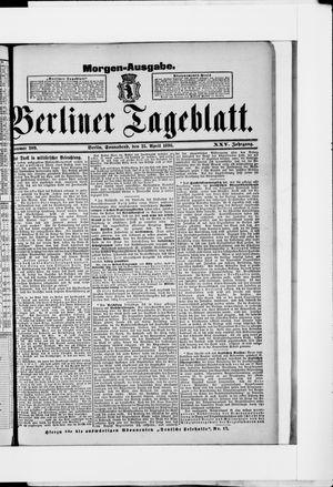 Berliner Tageblatt und Handels-Zeitung vom 25.04.1896