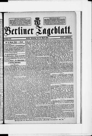 Berliner Tageblatt und Handels-Zeitung vom 26.04.1896