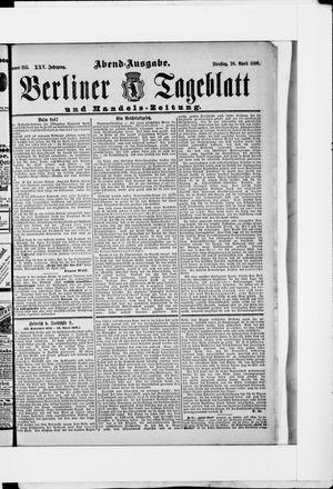 Berliner Tageblatt und Handels-Zeitung vom 28.04.1896