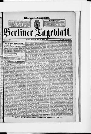 Berliner Tageblatt und Handels-Zeitung vom 29.04.1896