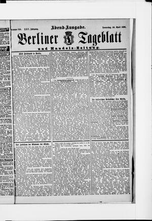 Berliner Tageblatt und Handels-Zeitung vom 30.04.1896